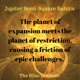 The planet of expansion meets the planet of restriction causing a friction of challenges through which you will earn the.png