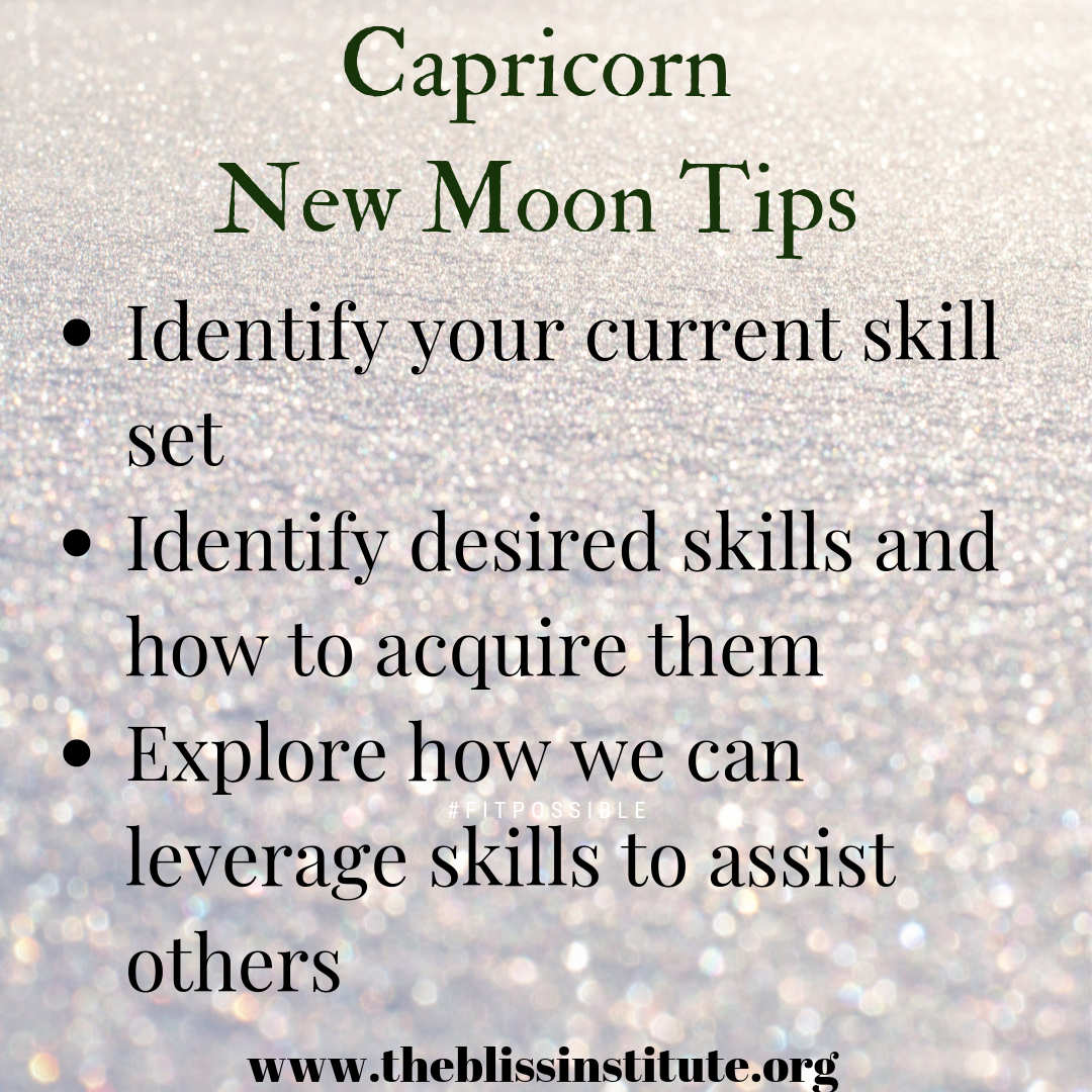 New Moon in Capricorn: The Value of Your Talents – The Bliss